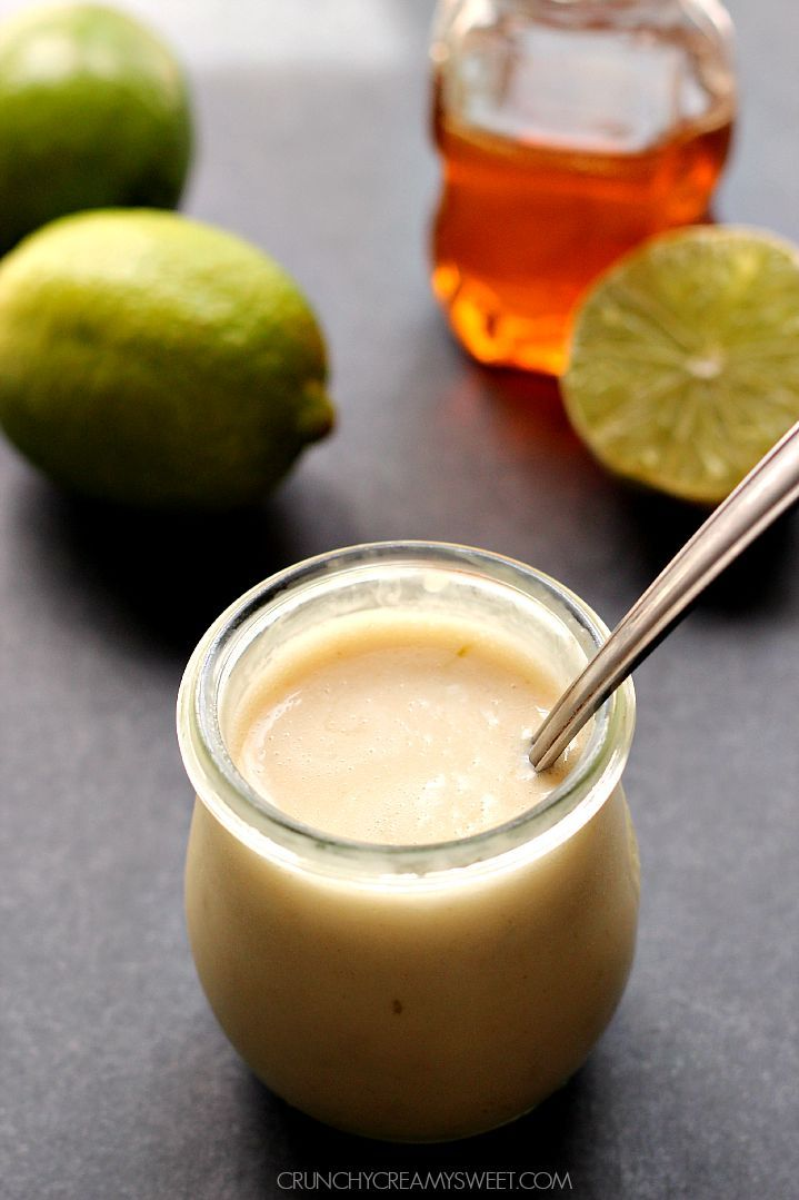 Honey Lime Dressing - one of my favorite dressings ever! You can make it for sweet and savory salads! So easy to whip up in your blender!