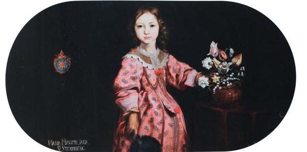 Podobizna Marie Maxmiliány ze Šternberka v dětském věku, 2. polovina 40. let 17. století, olej na plátně