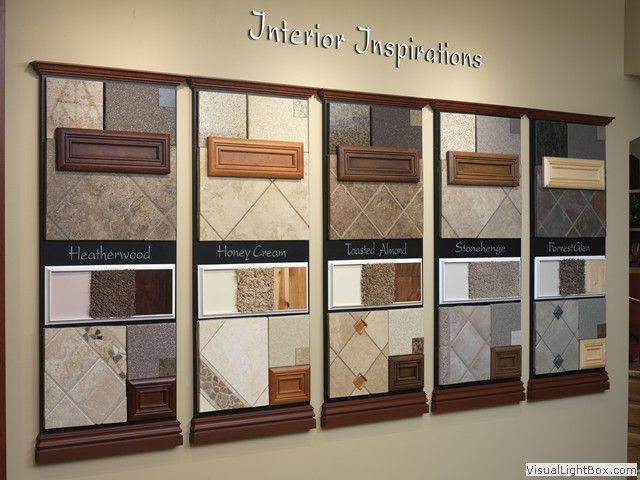 Interior Inspiration-McArthur Homes-shows decorating choices for tile & cabinet colors to match