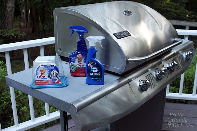 Dawn Grill Cleaner,  Mr. Clean Outdoor Pro,  Mr. Clean Magic Erasers  (Available exclusively at Lowe's)