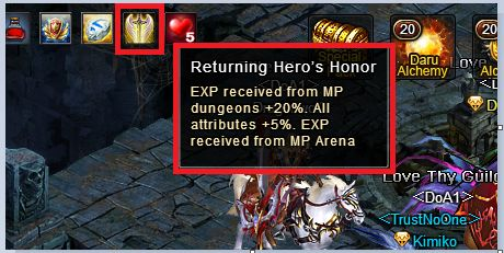 Returning Hero's Honour