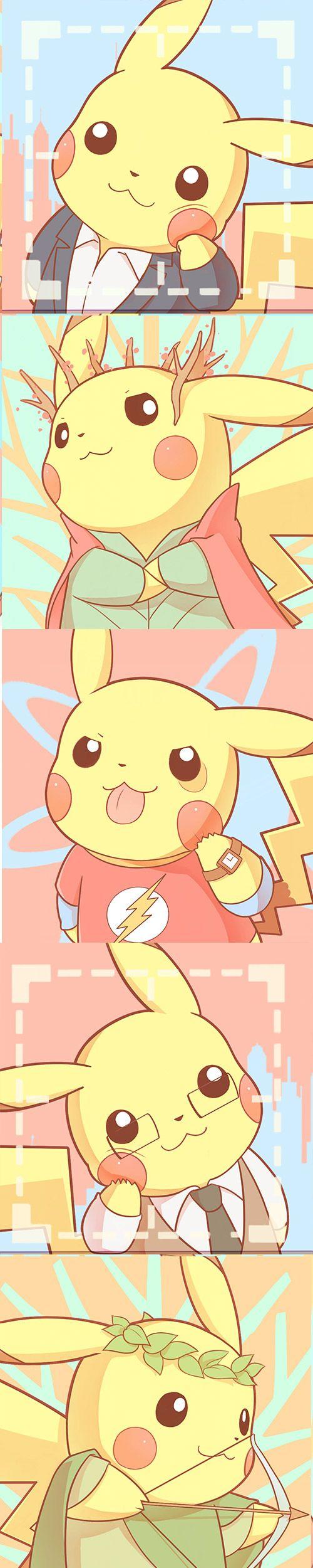 Pikachu con disfraces