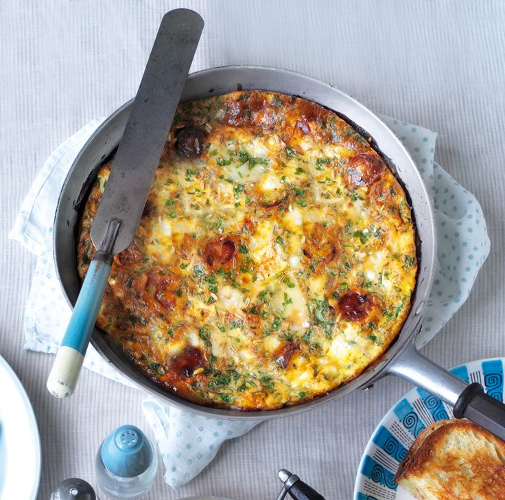 These flavourful frittata recipe can be eaten at any time of day for brunch, lunch or dinner.
