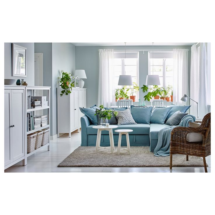 Best Ikea Holmsund Corner Sofa Bed Orrsta Light Blue Living 640 x 480