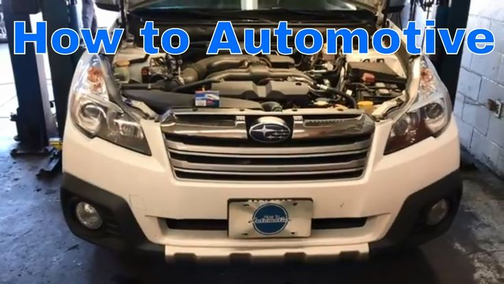 How to Replace the Spark Plugs on a 2009-2014 Subaru Outback with 2.5L E...