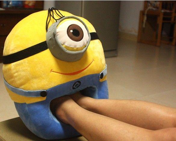 Гадкий я миньон подушка подушки теплые ноги рука теплая мультфильм большой фаворит плюшевые миньон мягкие игрушки(China (Mainland))