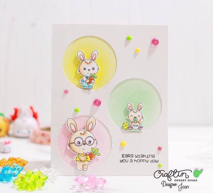 Somebunny - Craftin Desert Divas  #eastercards #bunnystamps #bunnycard #easterbunny