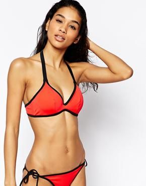 ASOS FULLER BUST Mix and Match Contrast Hidden Underwire Bikini Top DD-G at asos.com #bikini #beachtrip #vacation #sunny #women #covetme # summer