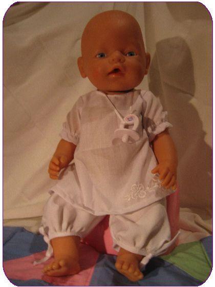 Outfit für 42cm Puppe nähen - Naaipatroon Baby Babyborn