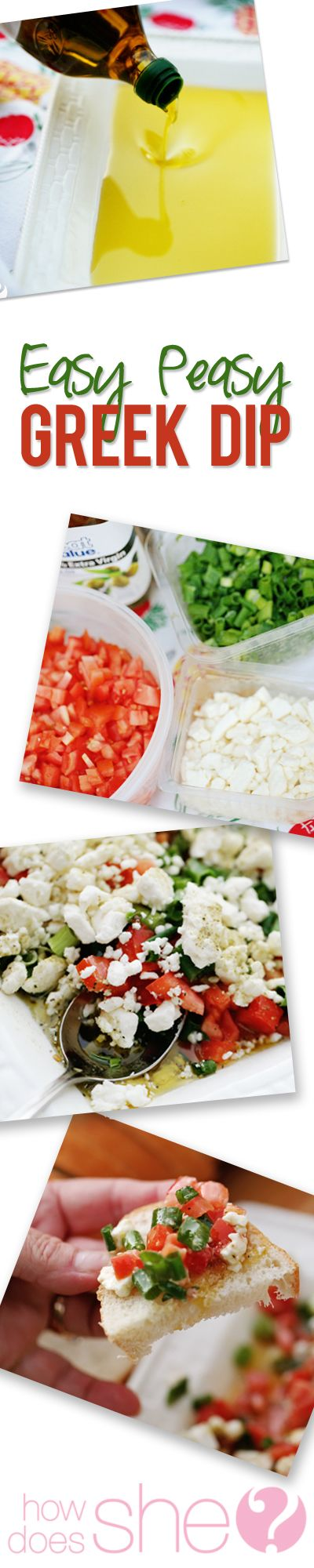 Shelley easy peasy greek dip pinterest