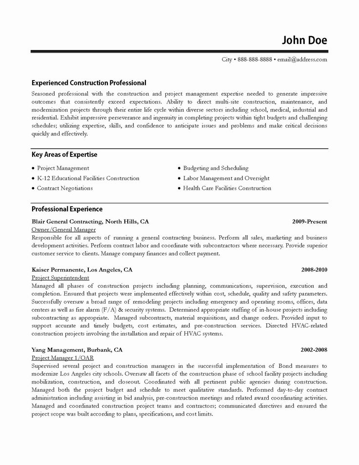 Construction Project Coordinator Resume Beautiful