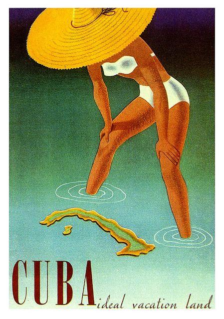Cuba: Ideal Vacation Land. Vintage poster, 1951.  Viaoldadvertising:    Cuba, the Ideal Vacation Land  by paul.malon on Flickr.  Via Flickr: 1951.