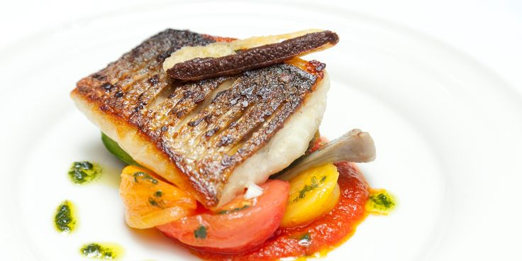 This vibrant dish from William Drabble will make the perfect summer dinner party dish, packed with flavour from sea bass, courgette, tomatoes and artichoke