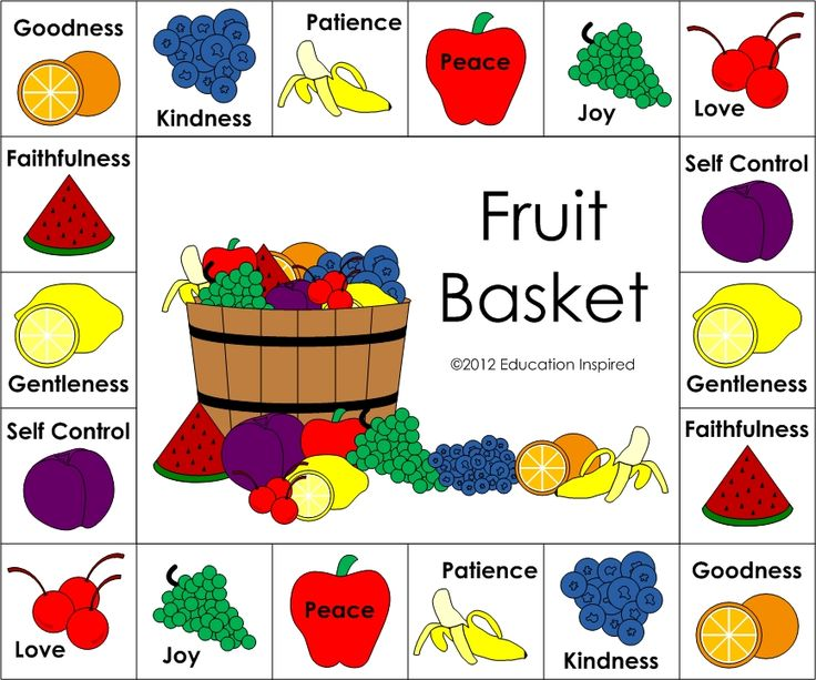 Fruits of the holy spirit sunday school lessons