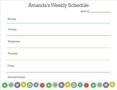 chore calendars