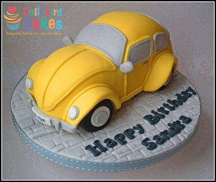 VW Beetle Cake  Cake by DollybirdBakes