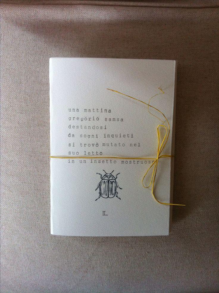 Kafka Notebook - Handmade - Incipit - Gregor Samsa