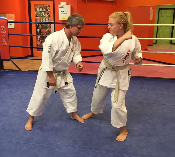 The self-defence technique I have chosen today is an in-line wrist grab, this is a very common action to be grabbed and pulled forwards, step 4.