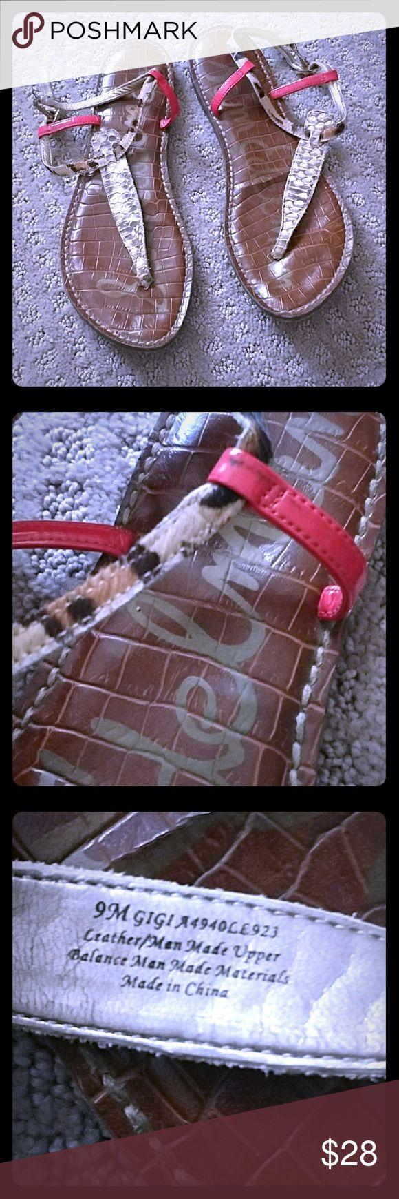 SAM EDELMAN GIGI SANDALS SNAKESKIN COLORFUL SIZE 9 SAM EDELMAN GIGI SANDALS SNAKESKIN COLORFUL SIZE 9 LIGHTLY WORN POSSIBLY 2 MONTHS Sam Edelman Shoes Sandals