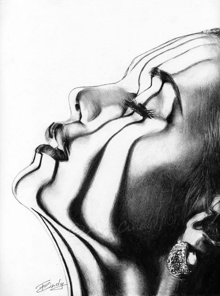 Cindy Disegni-Art Marsolle - ART DREAMERS charcoal drawing