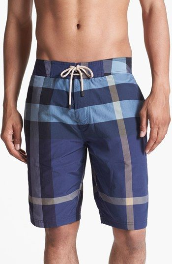 Burberry Brit Laguna Check Print Board Shorts (Men) available at #Nordstrom
