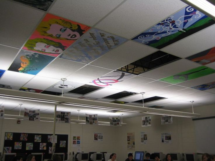 Ceiling Tile Art | Olympia CUSD 16 - Seniors Create Art on the Ceiling