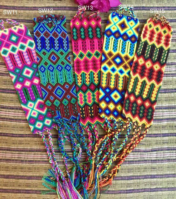 Friendship Bracelets Extra Wide Tie On Bracelet Omega Multi