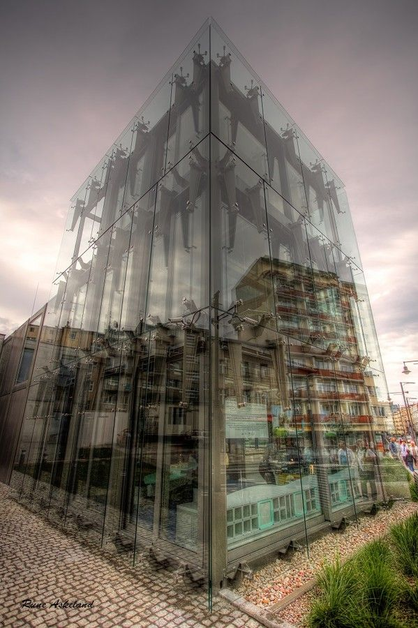 Outside or....? by Rune Askeland  #Poland #gdynia #glass #reflections