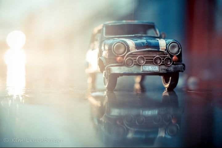 At first you may think that these Traveling Cars Adventures are simply photographs of cars in scenic landscapes. Upon further inspection, though, viewers w