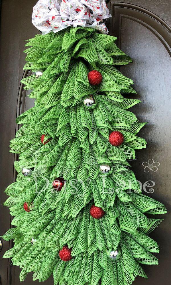 Christmas Tree Wreath Christmas Wreath Christmas Decor Front Door Wreath Christmas Decor Ho Christmas Wreaths Christmas Tree Wreath Unique Christmas Trees