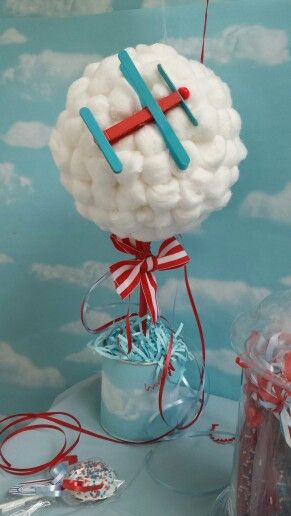 Vintage airplane centerpieces~the airplane is made out of a clothespin how creative