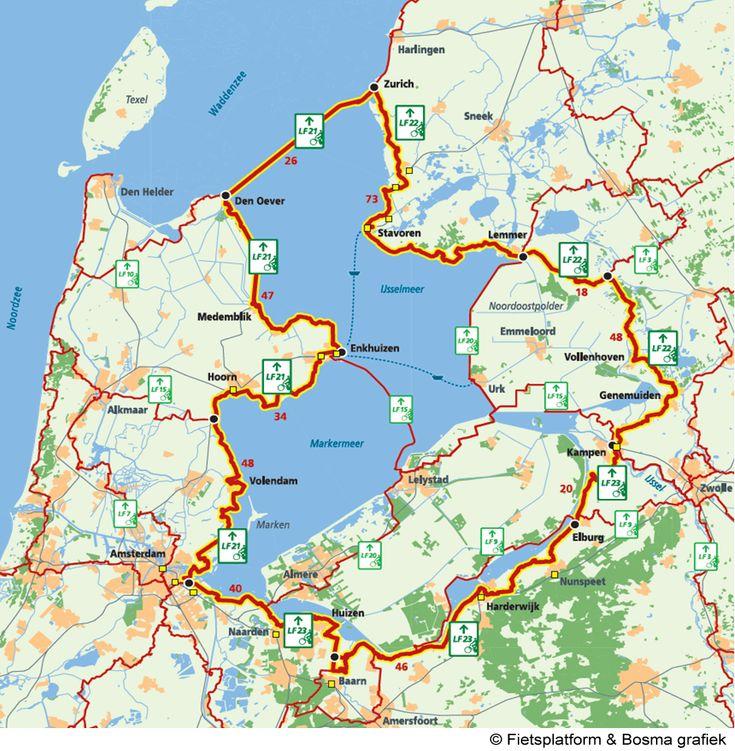 Zuider Zee Cycling Map