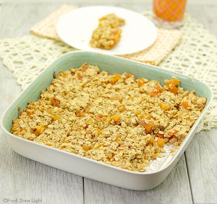 ... snack! Apricot Chia Oat Bars Low Calorie, Low Fat Healthy Oatmeal Bar