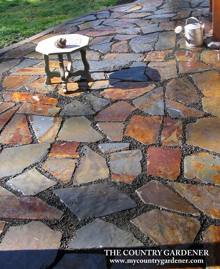 Image Result For Slate Patio. I Love The Artistry Involved In Making All  These Pieces Come Together   Beautiful Color Variation
