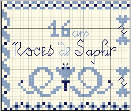 """""""16 ans - Noces de Saphir"""" (16 year anniversary - sapphire) - Le blog de vava"""