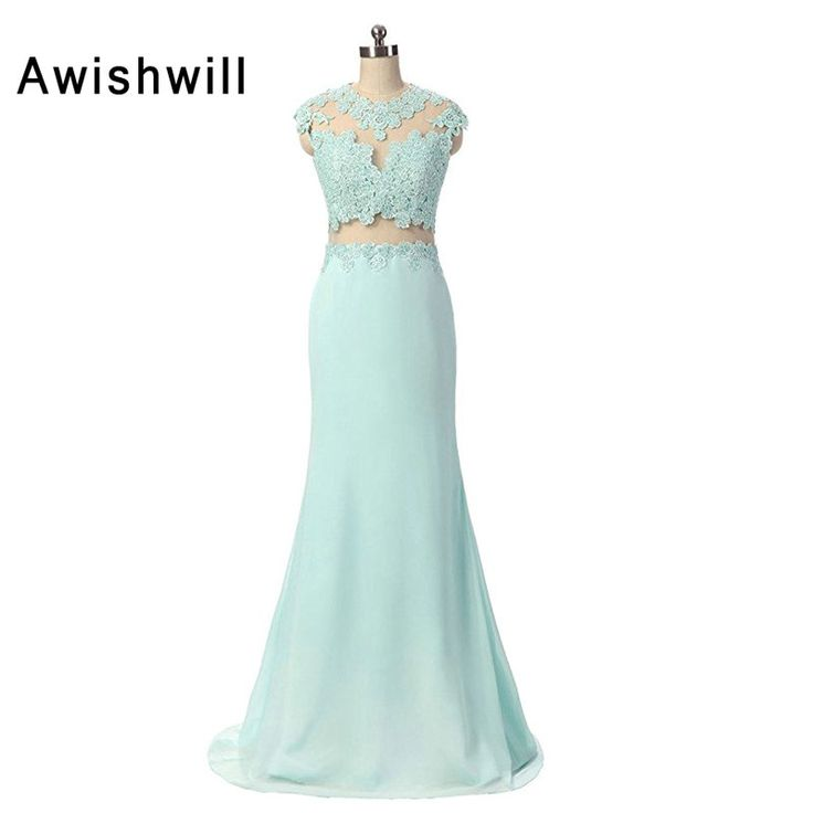 2017 Robe Soiree Longue Femme Real Photo Floor Length Lace Chiffon Elegant Formal Party Dresses Evening Gowns For Women #Affiliate