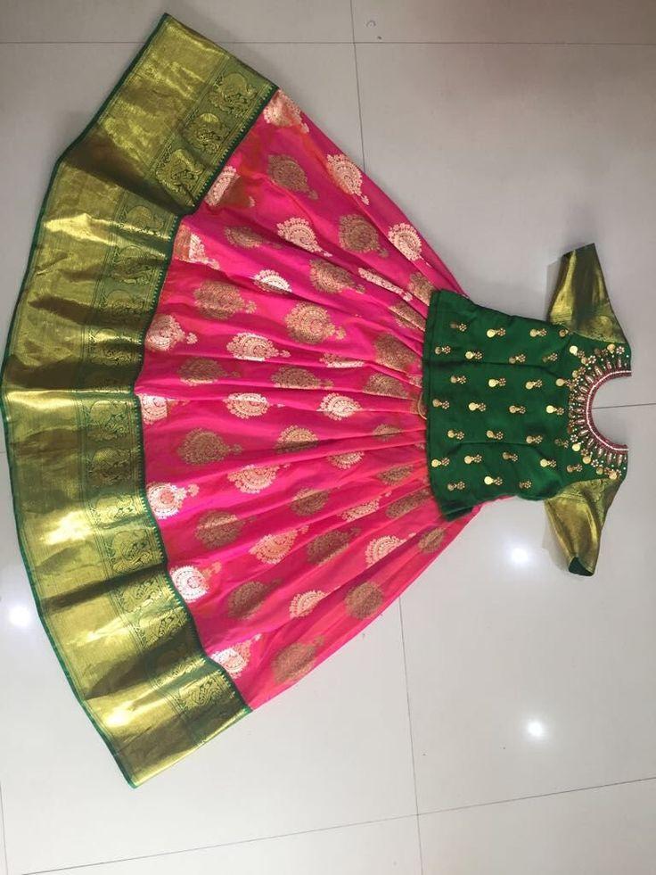 Pattu langa   1000   Kids blouse designs, Kids designer ...