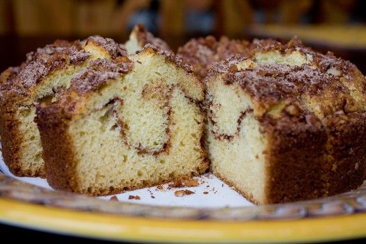 SourCreamCake - I would not put the walnuts on the top, they were a little too roasted