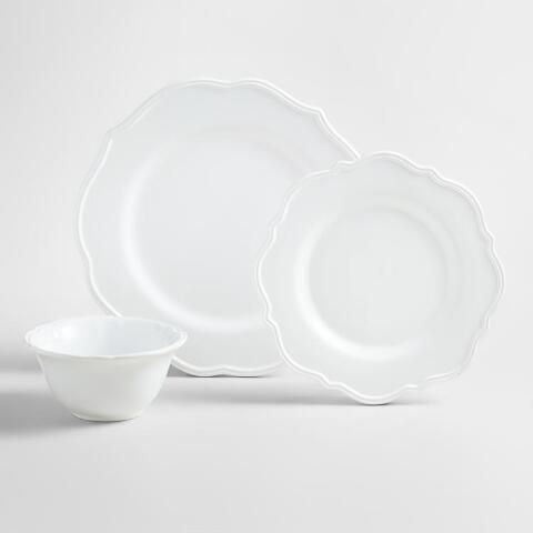 Crafted of earthenware with a sophisticated silhouette in soft white. Salad Plates 4/$24