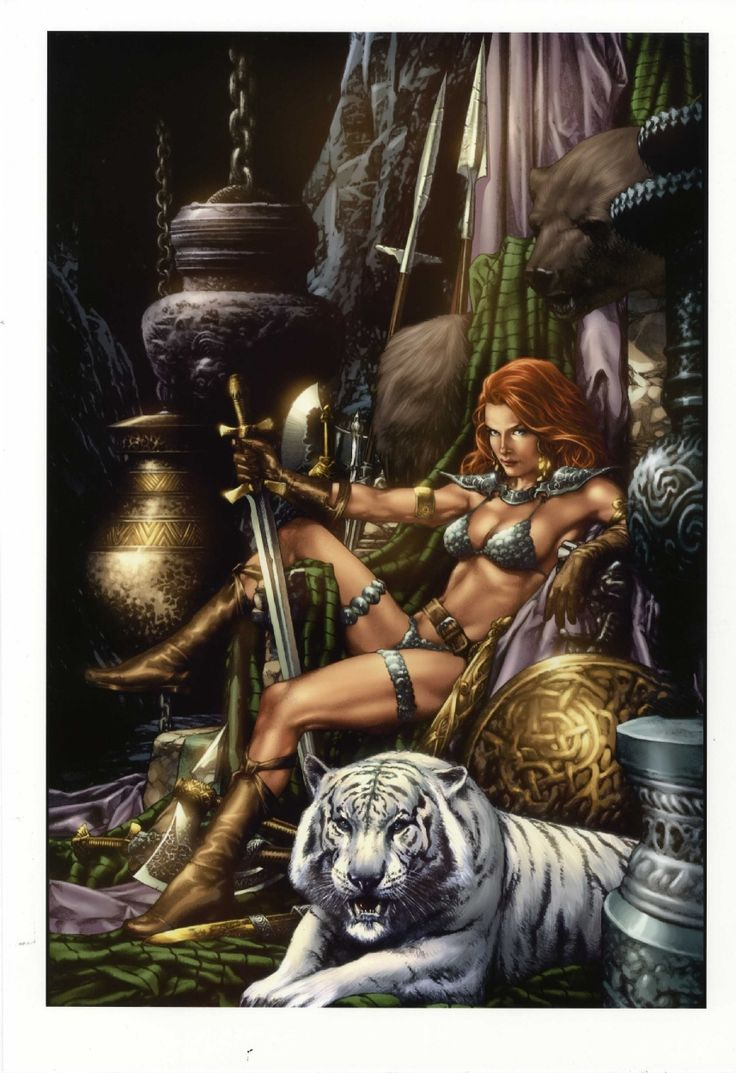 Jay Anacleto Print 'Red Sonja'Colors by Nei Ruffino  Comic Art