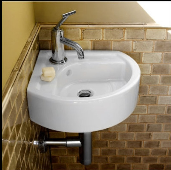 Nice Bathroom Sinks : Space Saving Bathroom Sinks #33: Corner Sink. Save