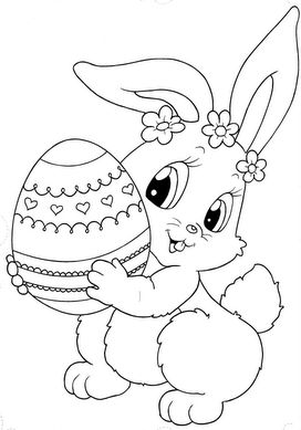 A coloring page for Easter!!