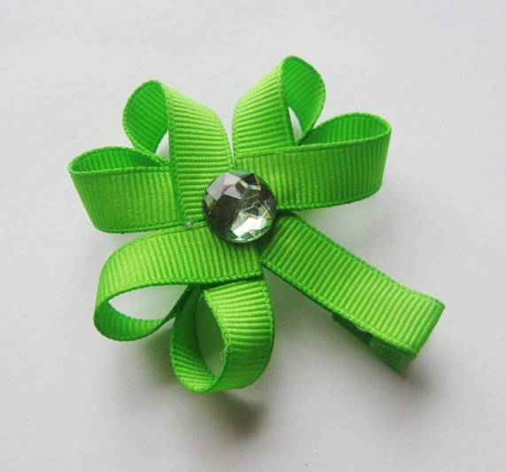 Charlie's Halo - Handmade Ribbon Sculptures - Lucky Shamrock