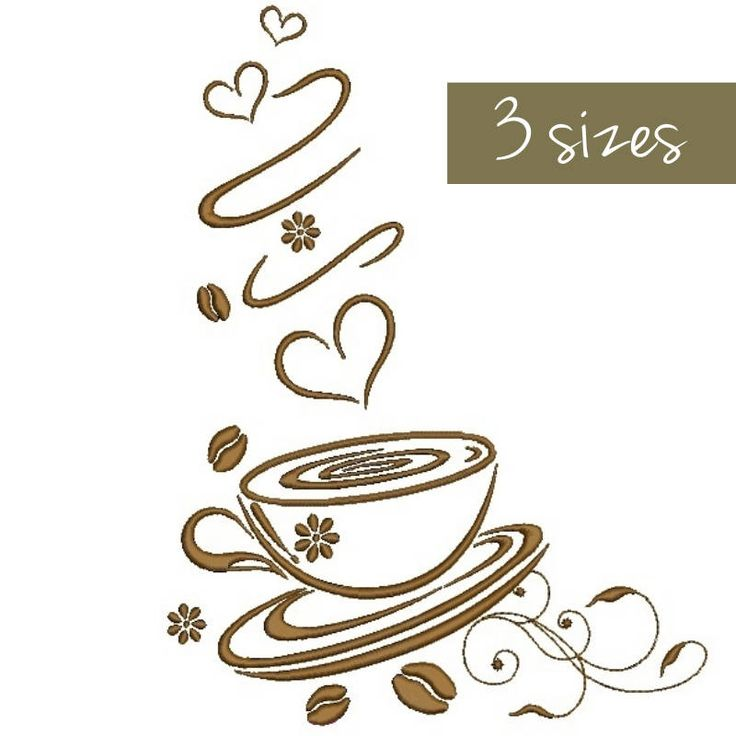 Coffee embroidery design Love Kitchen mom embroidery instant digital download cuisine pattern hoop pes file heart designs by SvgEmbroideryDesign on Etsy