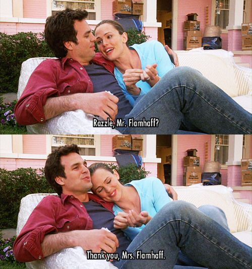 13 Going on 30 (2004) Movie Quotes - Mark Ruffalo (Matt Flamhaff) and Jennifer Garner (Jenna Rink) #JenniferGarner #13Goingon30