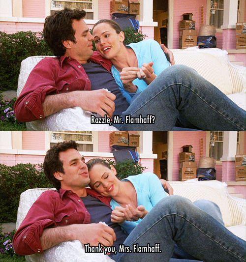 13 Going on 30 (2004) Movie Quotes - Mark Ruffalo (Matt Flamhaff) and Jennifer Garner (Jenna Rink) #JenniferGarner #13Goingon30