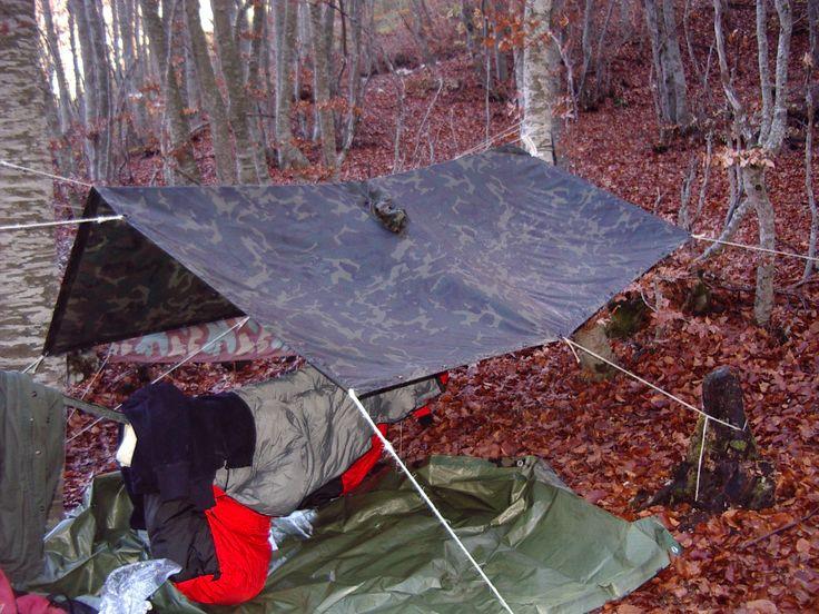 Shelter con amaca e telo-poncho