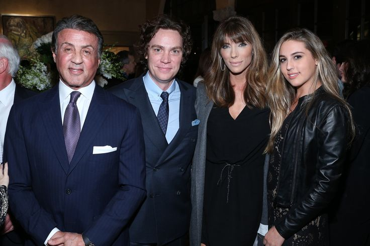 Golden Globe winner Sylvester Stallone, Jay Fielden, Jennifer Flavin Stallone and Sistine Stallone   - TownandCountryMag.com