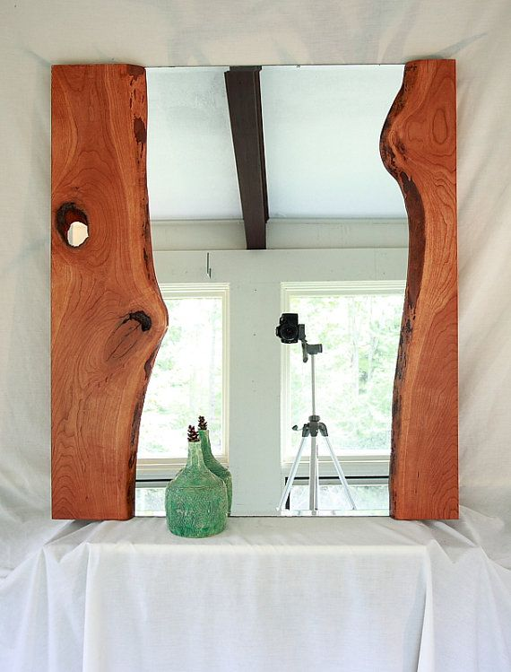 Lake Sunapee Live Edge River Mirror Medium by Bentwoodstudios