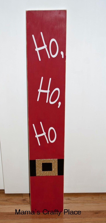 Ho, Ho, Ho Santa Sign for porch